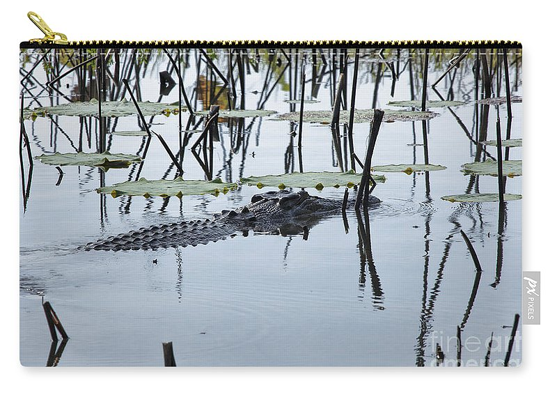 Salt Water Crocodile Carry-all Pouch featuring the photograph Stealth V5 by Douglas Barnard