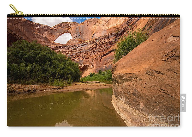Steven's Arch Carry-all Pouch featuring the photograph Stevens Arch - Escalante River - Utah by Gary Whitton