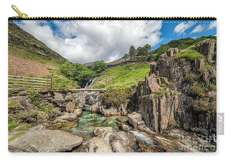 Nant Gwynant Carry-all Pouch featuring the photograph Stone Bridge by Adrian Evans