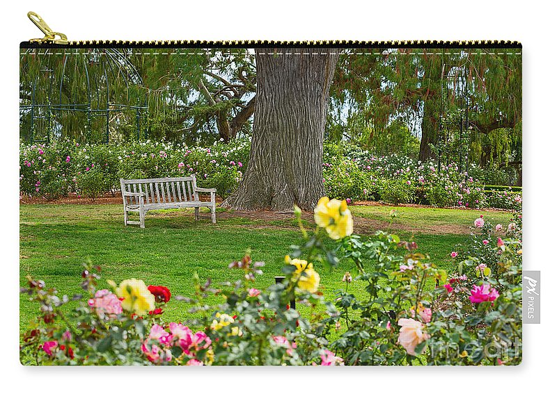 Rose Garden Carry-all Pouch featuring the photograph Stop And Smell The Roses by Jamie Pham