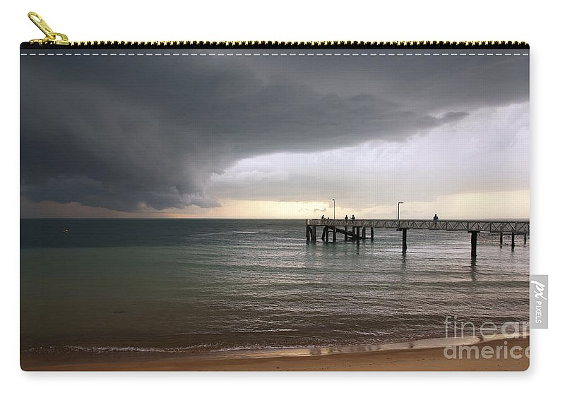 Beach Carry-all Pouch featuring the photograph Storm Clouds by Tim Hester