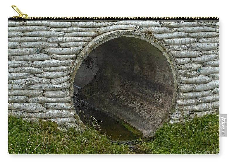 Abutment Carry-all Pouch featuring the photograph Storm Culvert Drainage Pipe Concrete Revetment by Stephan  sc 1 st  Fine Art America & Storm Culvert Drainage Pipe Concrete Revetment Carry-all Pouch for ...