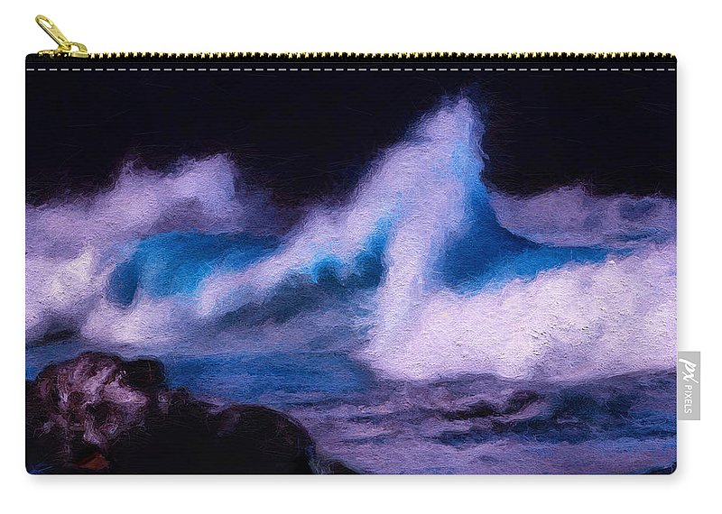 Storm Surge Carry-all Pouch featuring the digital art Storm Surge by David Derr