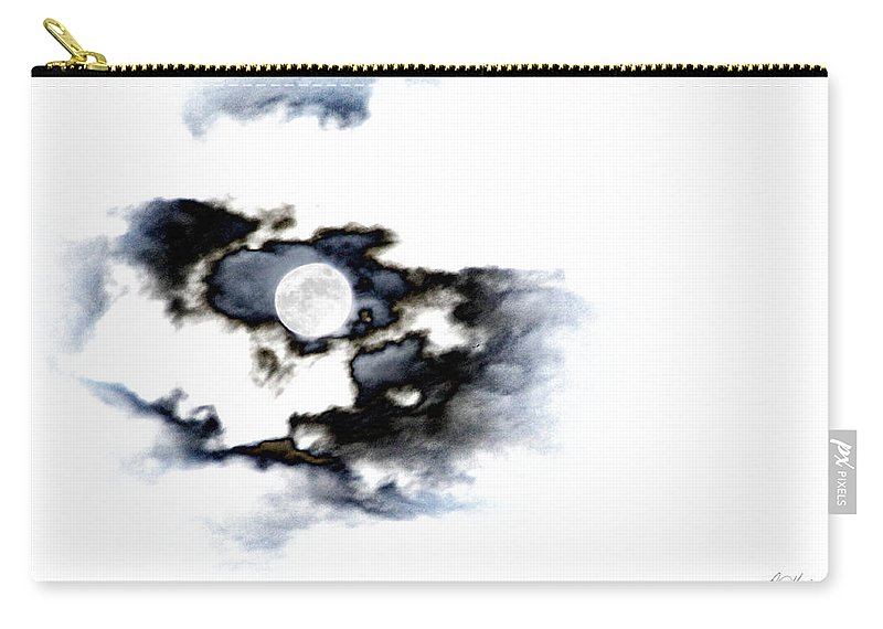 Moon Carry-all Pouch featuring the photograph Stormy Moon by Diana Haronis