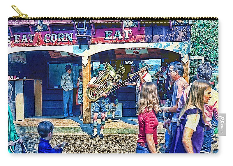 Street Scene Carry-all Pouch featuring the photograph Street Scene by Cathy Anderson
