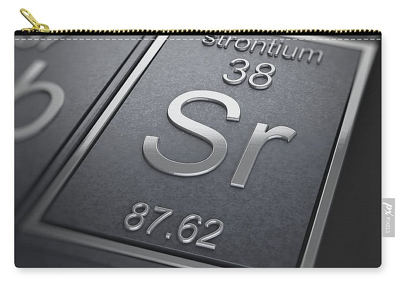 Strontium Carry-all Pouch featuring the photograph Strontium Chemical Element by Science Picture Co
