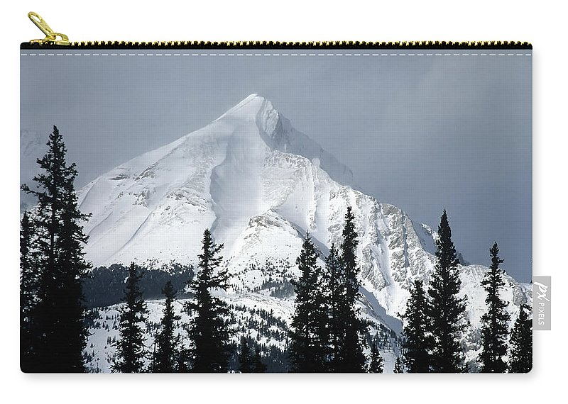 Americas Carry-all Pouch featuring the photograph Sugar Icing Mountain Top by Roderick Bley