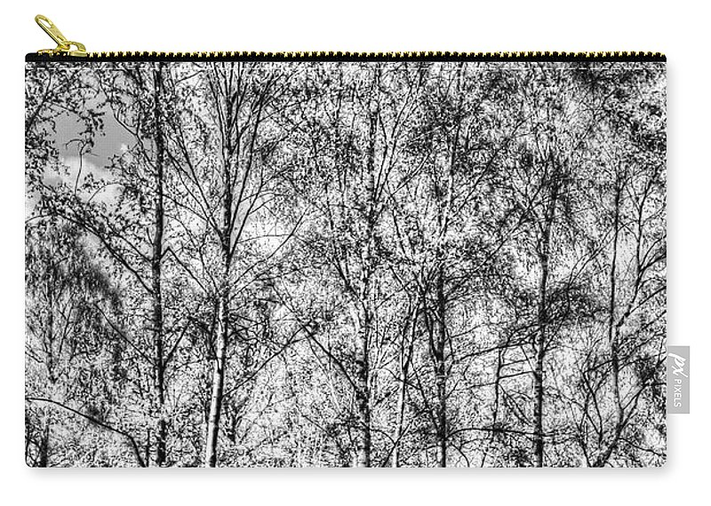 Forest Carry-all Pouch featuring the photograph Summer Forest Trees by David Pyatt