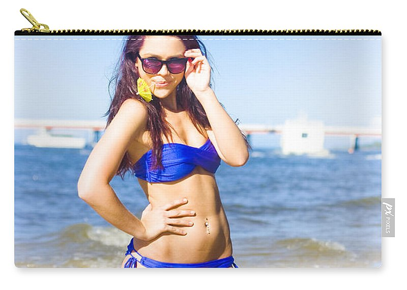 Attractive Carry-all Pouch featuring the photograph Sun Sand And Sea Leisure by Jorgo Photography - Wall Art Gallery