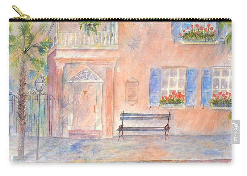 Charleston Carry-all Pouch featuring the painting Sunday Morning in Charleston by Ben Kiger