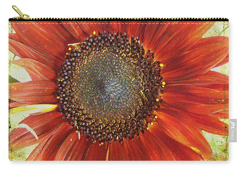 Flora Carry-all Pouch featuring the photograph Sunflower by Kathy Bassett