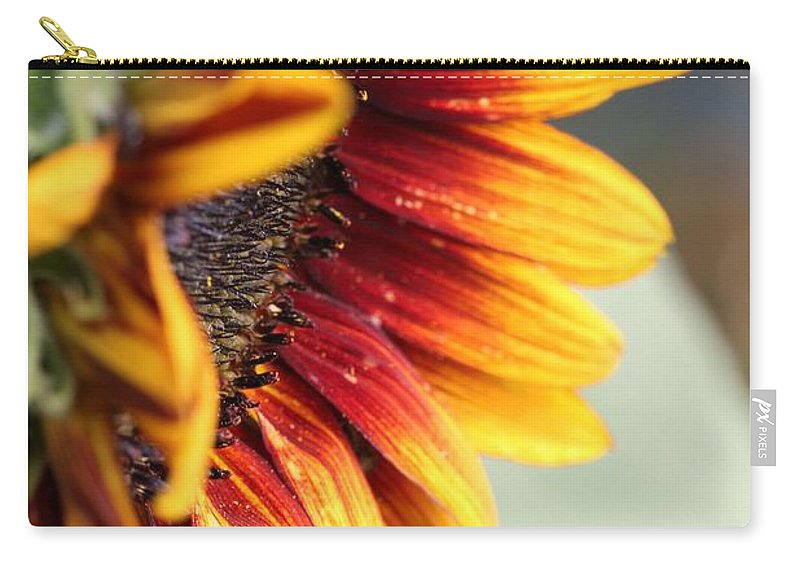 Mccombie Carry-all Pouch featuring the photograph Sunflower Named The Joker by J McCombie