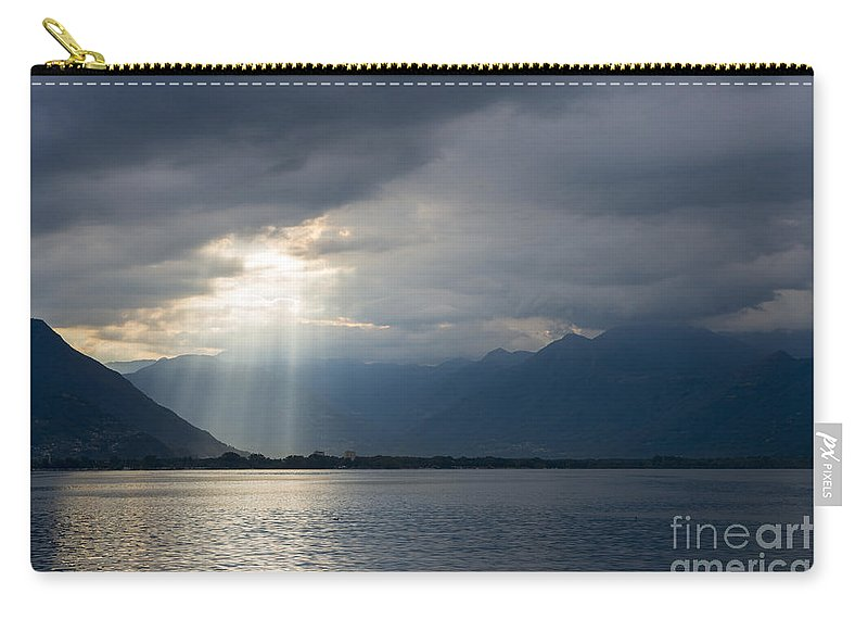 Lake Carry-all Pouch featuring the photograph Sunlight by Mats Silvan