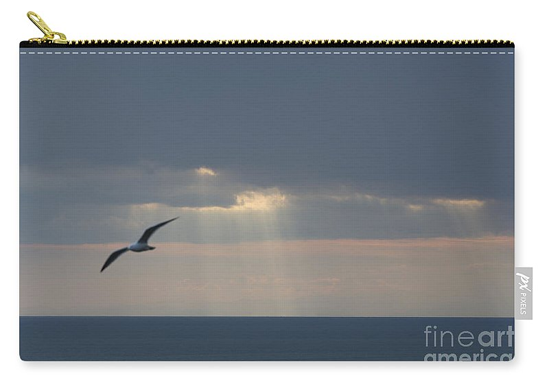 Sea Carry-all Pouch featuring the photograph Sunlight Over The Sea by Mats Silvan