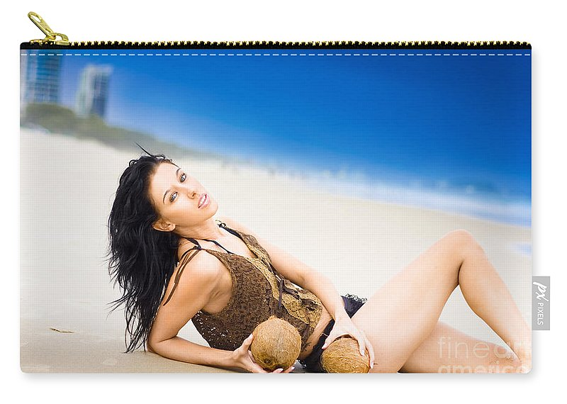 Vacation Carry-all Pouch featuring the photograph Sunlight Serenity by Jorgo Photography - Wall Art Gallery