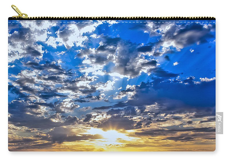 Weather Carry-all Pouch featuring the photograph Sunset by Gregory Dean
