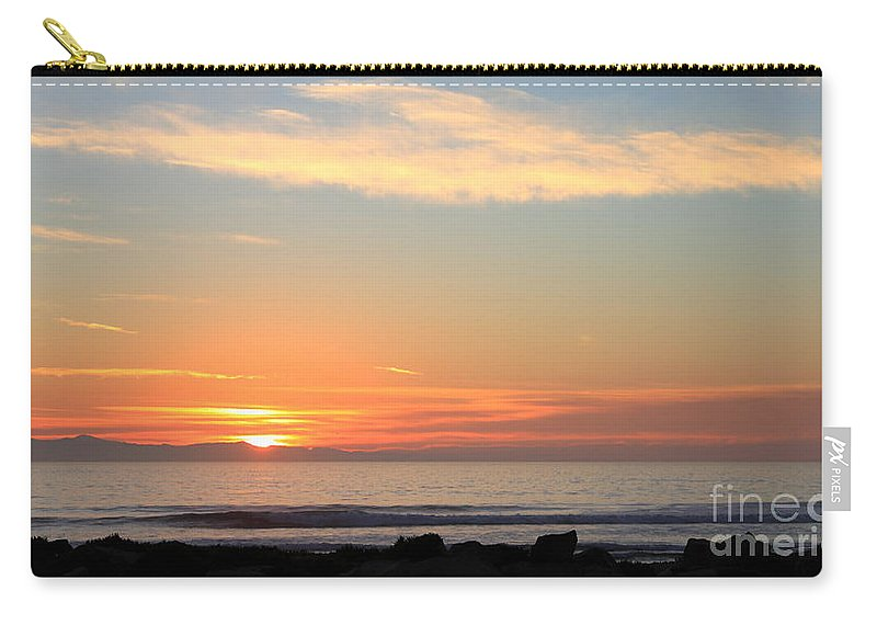 santa Cruz Island Carry-all Pouch featuring the photograph Sunset by Henrik Lehnerer