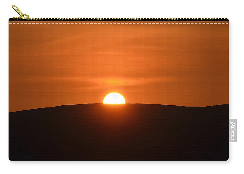 Sunset Carry-all Pouch featuring the photograph Sunset In The Ox Mountains County Sligo Ireland by Bill Cannon