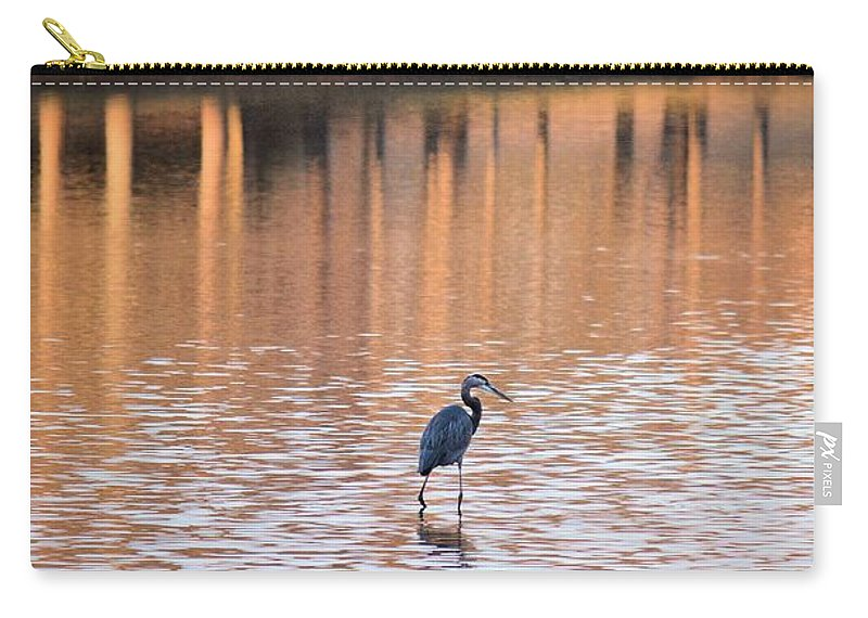 Sunset On The Lake Carry-all Pouch featuring the photograph Sunset On The Lake by Maria Urso