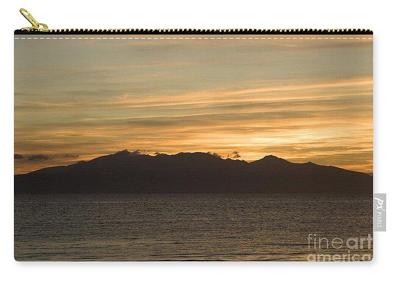 Arran Carry-all Pouch featuring the photograph Sunset Over Arran by Liz Leyden
