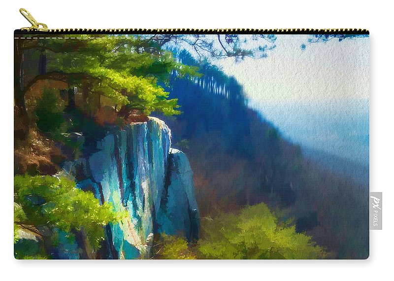 Lookout Mountain Carry-all Pouch featuring the photograph Sunset Rock by Frank Bright