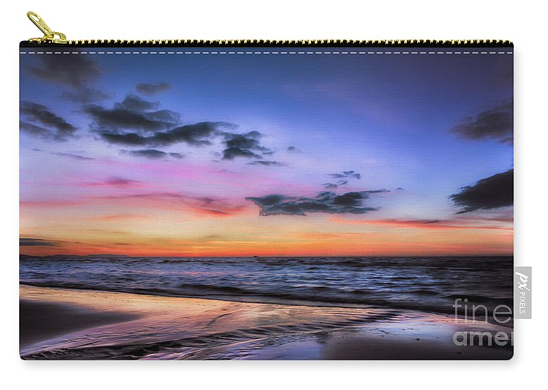 British Carry-all Pouch featuring the photograph Sunset Seascape by Adrian Evans