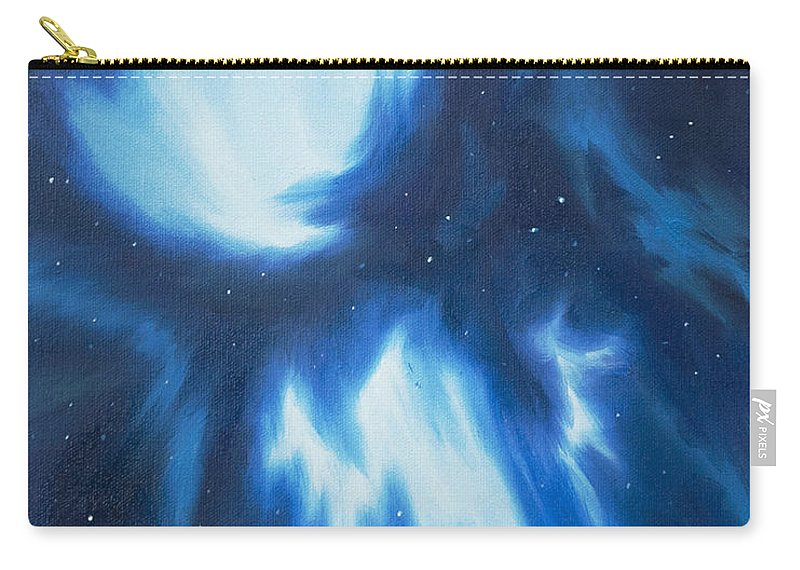 James Christopher Hill Carry-all Pouch featuring the painting Supernova Explosion by James Christopher Hill