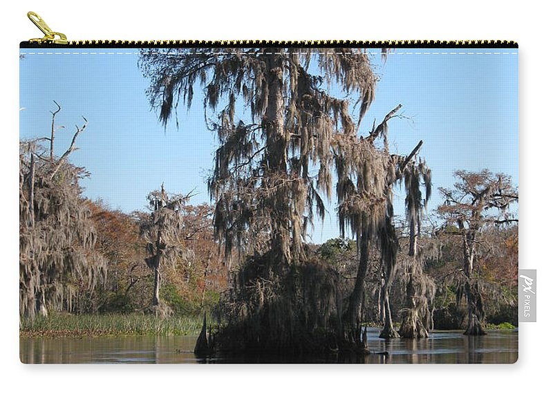 Swamp Carry-all Pouch featuring the photograph Walkula Springs Reflection by Christiane Schulze Art And Photography