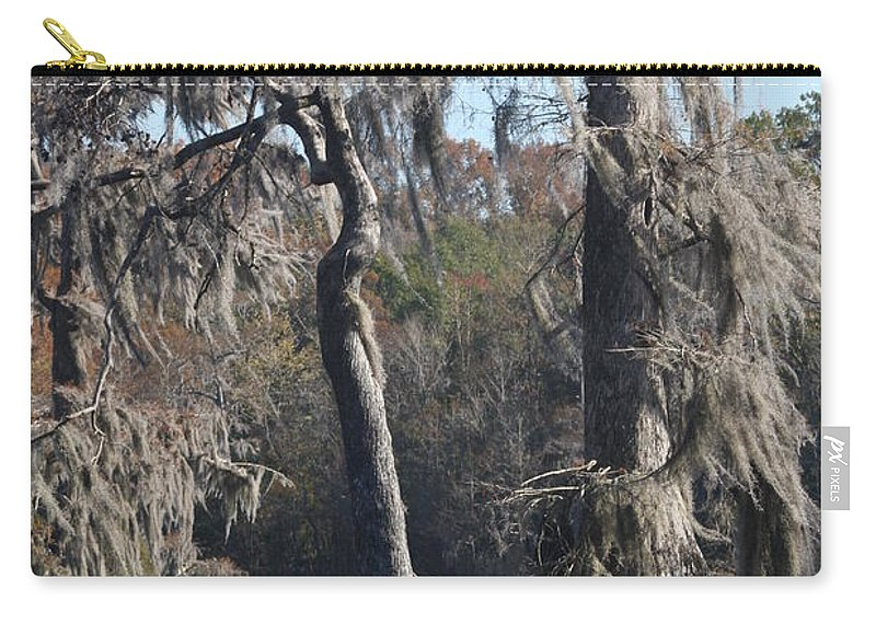 Swamp Carry-all Pouch featuring the photograph Swampreflection by Christiane Schulze Art And Photography