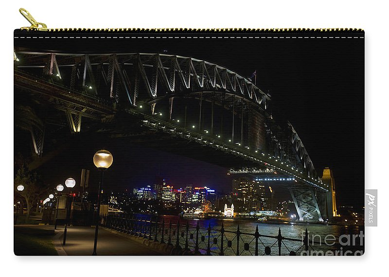 Travel Carry-all Pouch featuring the photograph Sydney Harbor Bridge At Night by Jason O Watson