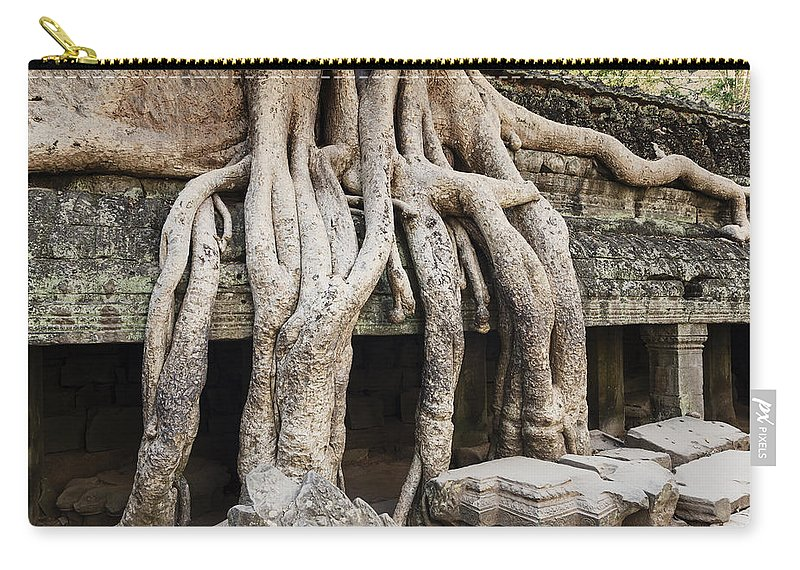 Temple Carry-all Pouch featuring the photograph Ta Prohm by Alexey Stiop