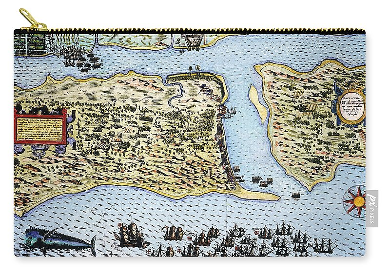 1586 Carry-all Pouch featuring the photograph Taking Of St. Augustine by Granger