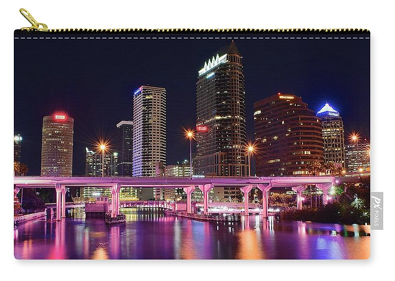 Tampa Carry-all Pouch featuring the photograph Tampa Colors by Frozen in Time Fine Art Photography