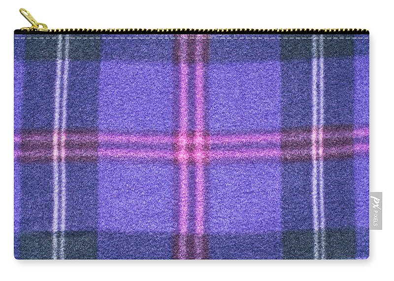 Background Carry-all Pouch featuring the photograph Tartan Pattern by Tom Gowanlock