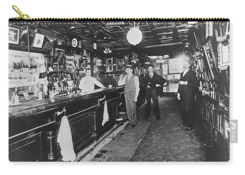 1895 Carry-all Pouch featuring the photograph Tavern by Granger
