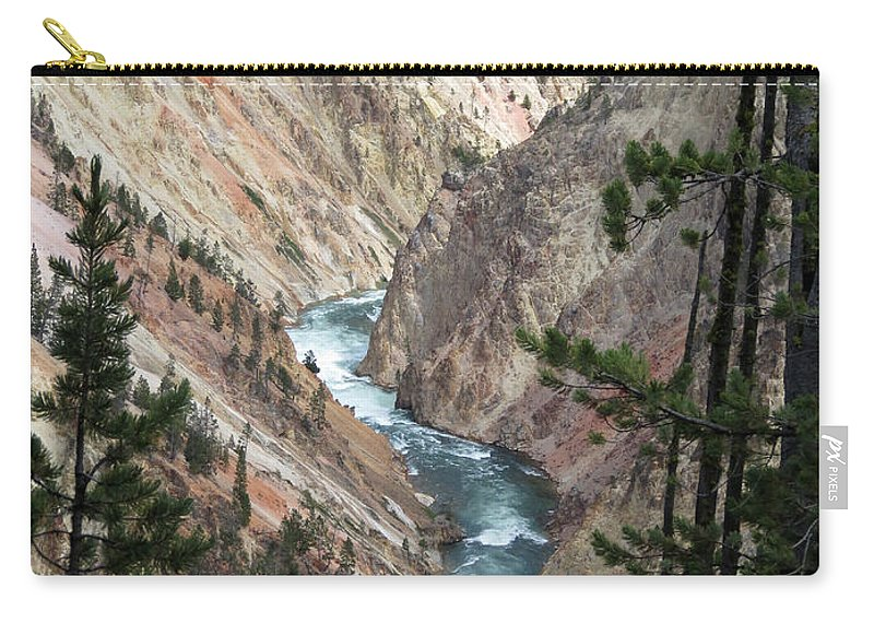 Yellowstone National Park Carry-all Pouch featuring the photograph The Canyon by Laurel Powell