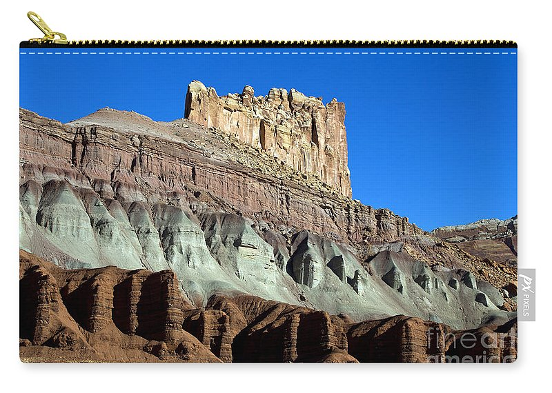 Capitol Reef Carry-all Pouch featuring the photograph The Castle Capitol Reef National Park Utah by Jason O Watson