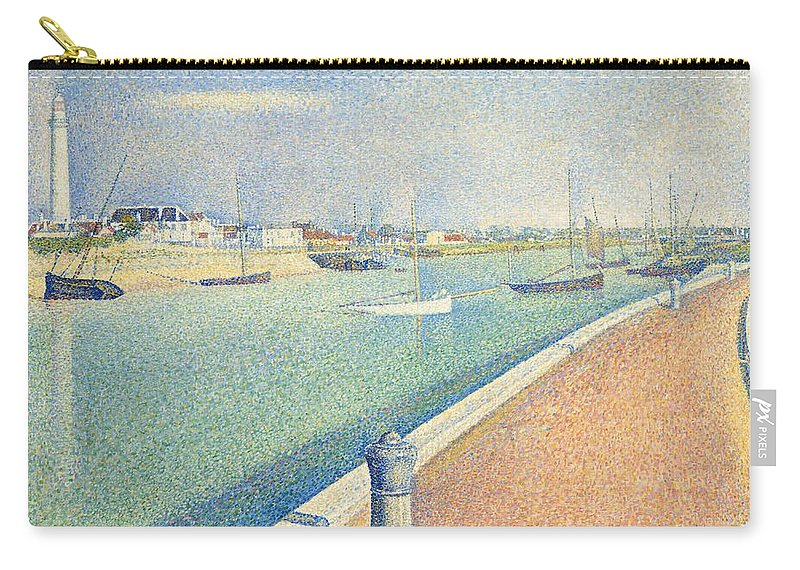 1890 Carry-all Pouch featuring the painting The Channel Of Gravelines by Georges Seurat