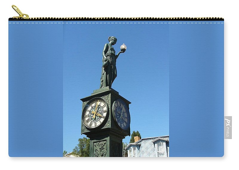 Lyle Carry-all Pouch featuring the painting The Clock by Lord Frederick Lyle Morris - Disabled Veteran
