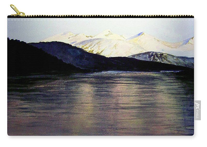 Watercolor Carry-all Pouch featuring the painting The Deepening Day by Brenda Owen