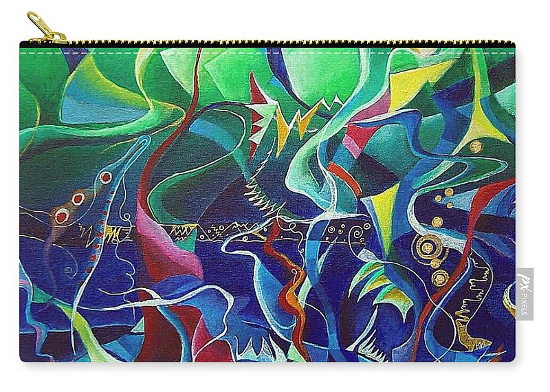 Darius Milhaud Carry-all Pouch featuring the painting the dreams of Jacob by Wolfgang Schweizer