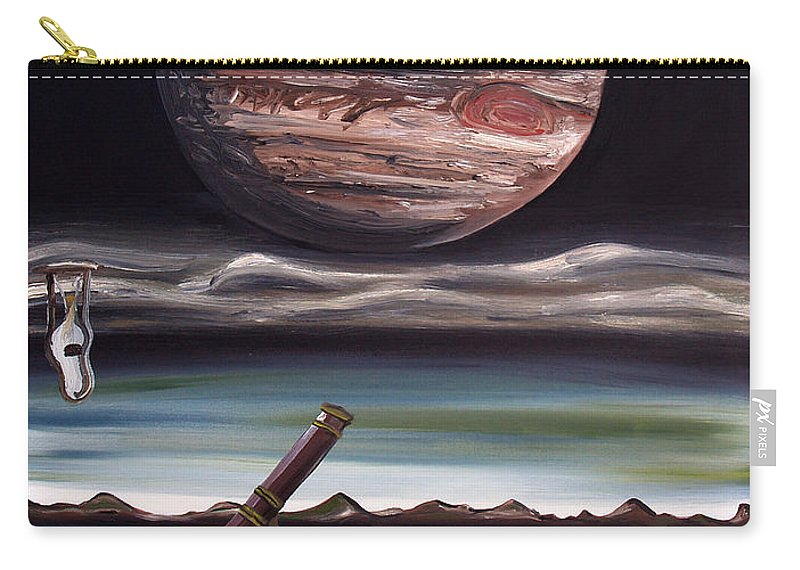 Surreal Carry-all Pouch featuring the painting The Eternal Staring Contest by Ryan Demaree