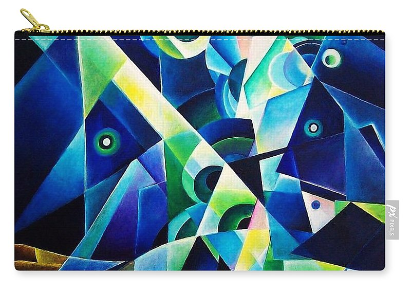 Gates Acrylics Abstract Carry-all Pouch featuring the painting The Gates by Wolfgang Schweizer