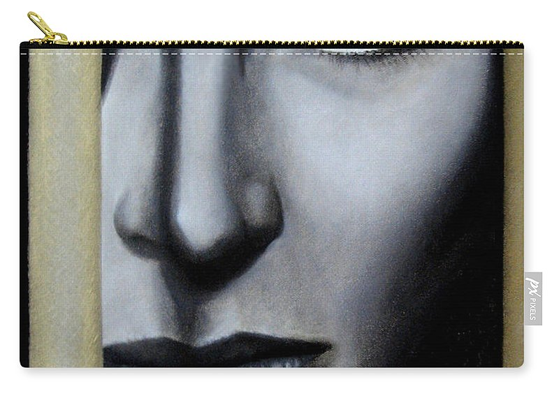 Woman Carry-all Pouch featuring the painting The Golden Cage by Lynet McDonald