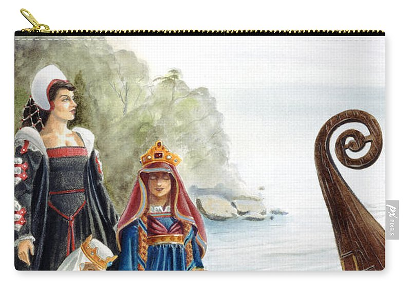 Avalon Carry-all Pouch featuring the painting The Isle of Avalon by Melissa A Benson