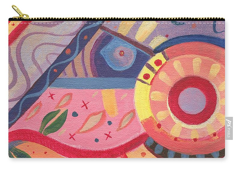 Abstract Carry-all Pouch featuring the digital art The Joy Of Design X V I I I Part 2 by Helena Tiainen