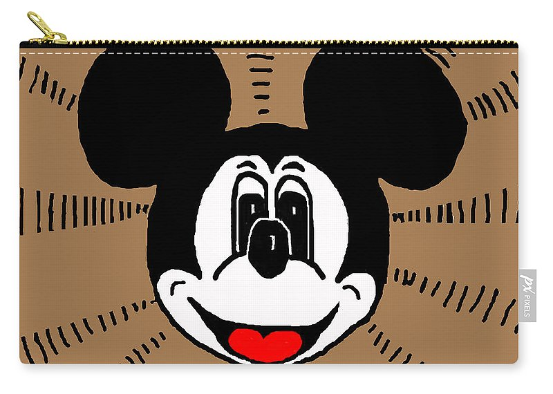 Mickey Carry-all Pouch featuring the mixed media The Man by Eric Liller