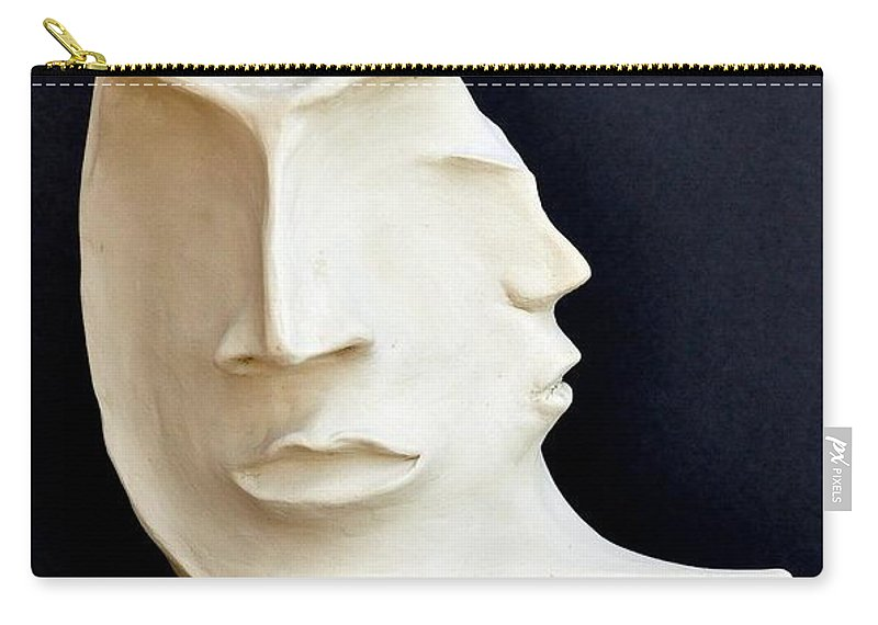 The Mysterious Moon Carry-all Pouch featuring the sculpture The Mysterious Moon by Marianna Mills