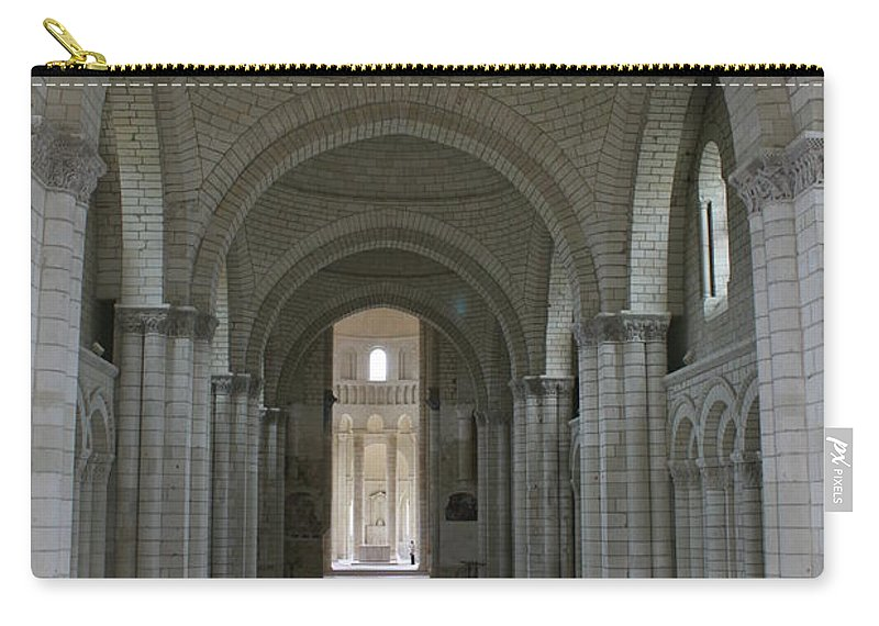 Nave Carry-all Pouch featuring the photograph The Nave - Cloister Fontevraud by Christiane Schulze Art And Photography
