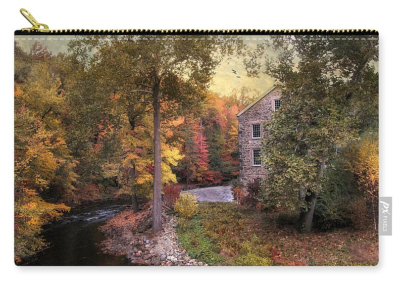 Autumn Carry-all Pouch featuring the photograph The Old Stone Mill by Jessica Jenney